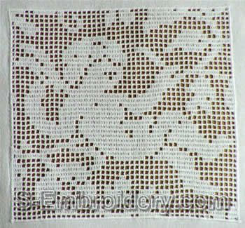 10369 Free standing lace crochet angel square No2