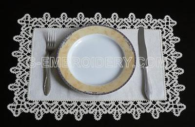 10478 Battenberg lace edging embroidery set