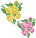 10052 Rose cross stitch machine embroidery