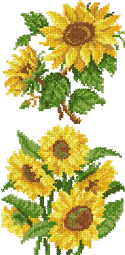 10072 Cross stitch sunflower embroidery set