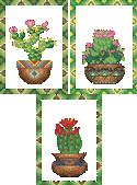 10090 Cross stitch cactus embroidery set No2