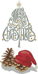 10170 Christmas machine embroidery set