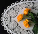 Freestanding lace table runner embroidery set