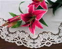 10334 Free standing lace blossom doily
