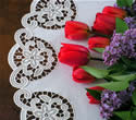 10344 Free standing lace doily machine embroidery