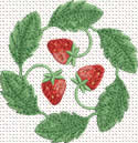 10352 Strawberry machine embroidery No8