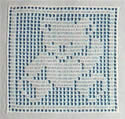 10366 Crochet square animals embroidery set