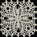10367 Free standing lace crochet table runner