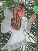 10389 Organza lace Christmas set