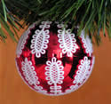 10391 Free standing lace Christmas ornament cover set