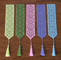 10411 Free standing lace crochet bookmarks No2