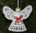 10449 Christmas angel Battenberg lace ornament