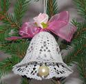 10488 Battenberg lace Christmas bells embroidery set