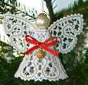 10489 Battenberg lace Christmas angel embroidery
