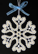 10490 Battenberg lace snowflake ornaments
