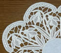 10504 Snowdrops free standing lace doily