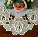 10517 Rose free standing lace doily