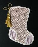10528 Battenberg lace Christmas stocking