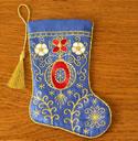10531 Christmas stocking machine embroidery design