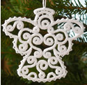 10564 Filigree Christmas angel ornament