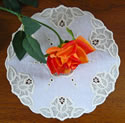 10574 Rose lace machine embroidery doily