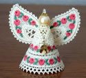 10636 Christmas angel 3D Battenburg lace ornament