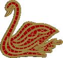 10638 Cutwork lace swan machine embroidery