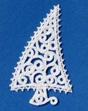 10639 Christmas tree free standing lace ornament