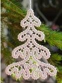 10641 Christmas tree Battenberg lace machine embroidery