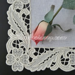 Free standing lace floral edging machine emb roidery
