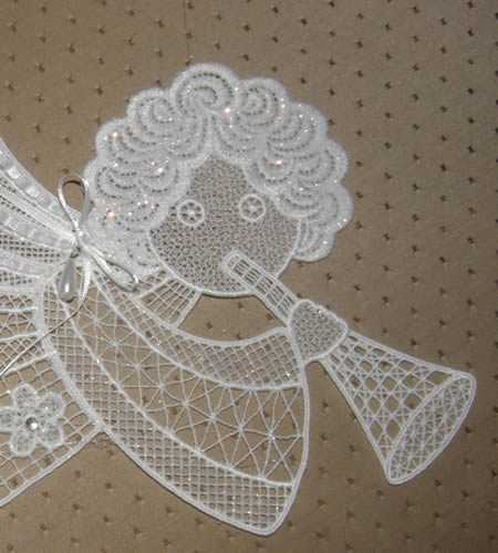 Freestanding angel Christmas window ornament