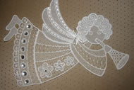 Freestanding lace angel embroidery design