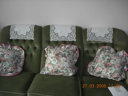 Freestanding lace chair backs