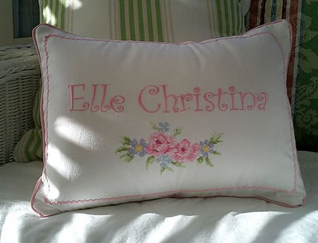 Cross stitch embroidered pillow case & Pillow case with cross stitch embroidery pillowsntoast.com