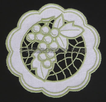 Grape Cutwork Lace Doily Tutorial - S-Embroidery.com