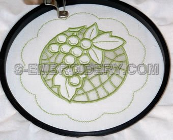 Stitch out the lace placement for the outer circle