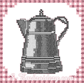 Kettle cross-stitch machine embroidery