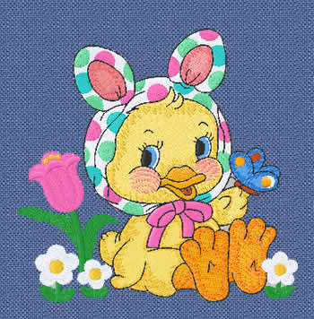 Machine Embroidery Design - Easter Ducky