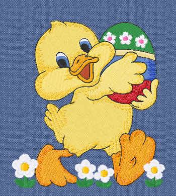 Easter Ducky machine Embroidery Design