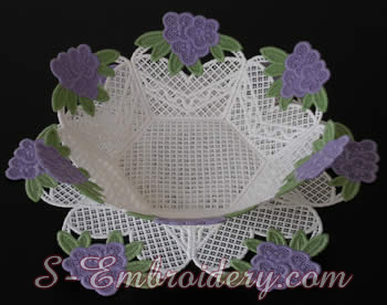 Free standing lace bowl