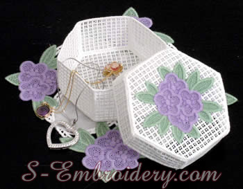 Freestanding lace box