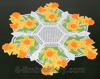 Easter freestanding lace doily #1
