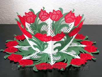 Tulip freestanding lace bowl