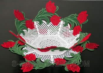 Freestanding Lace  Tulip bowl