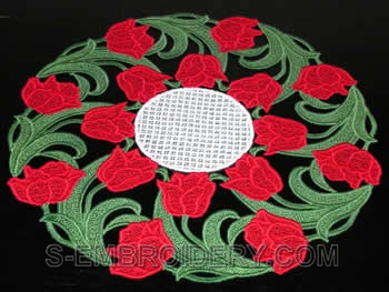 Tulip freestanding lace doily #3