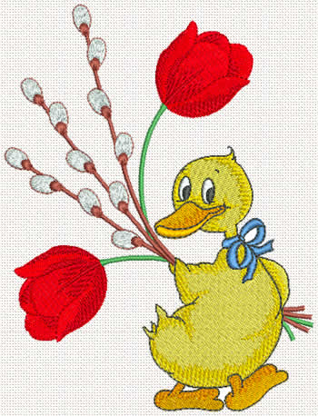 Ducky machine embroidery design