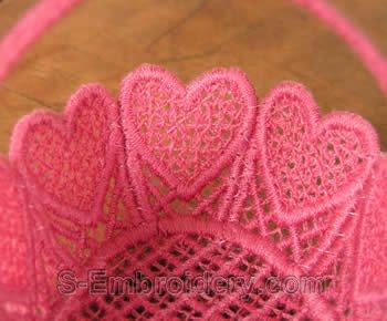 FSL wedding basket close-up