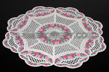 Mini rose freestanding doily #1