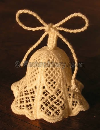 3D freestanding lace bell - 10252