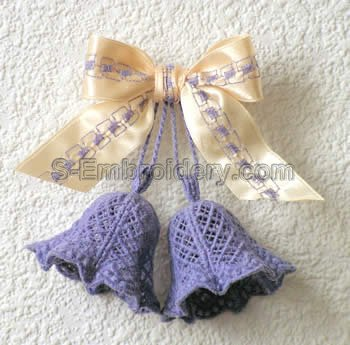 3D freestanding lace bell - pair